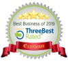 Best Business of 2019 - ThreeBest Rated - 5 Stars